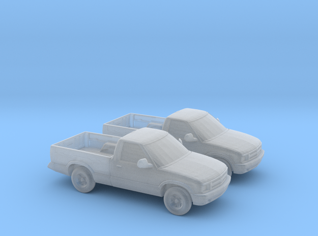 1/160 2X 1994-97 Chevrolet S 10 Single Cab in Smooth Fine Detail Plastic