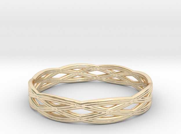 Basic ring(Japan 10,USA 5.5,Britain K)  in 14k Gold Plated Brass