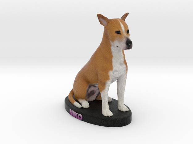 Custom Dog Figurine - Niko in Full Color Sandstone