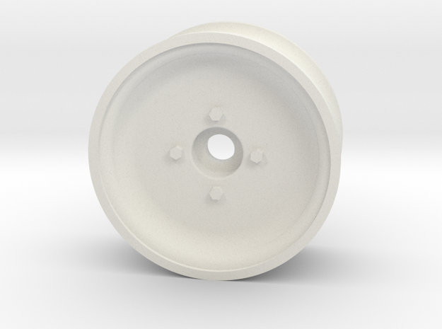1/10 SCALE 1.9 TRAILER WHEEL, SOLID in White Natural Versatile Plastic