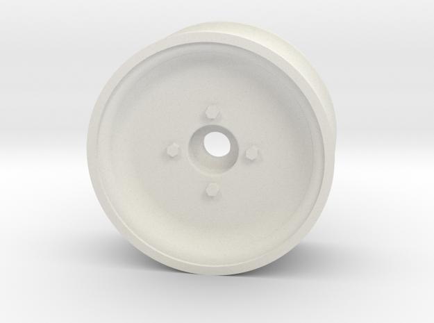 1/10 SCALE 1.9 TRAILER WHEEL, SOLID in White Natural Versatile Plastic