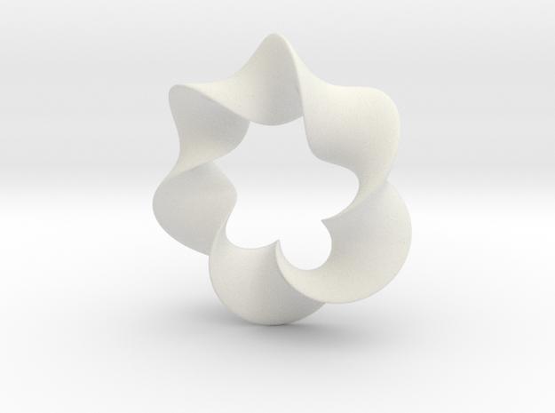 PENDANT TWIRL in White Natural Versatile Plastic