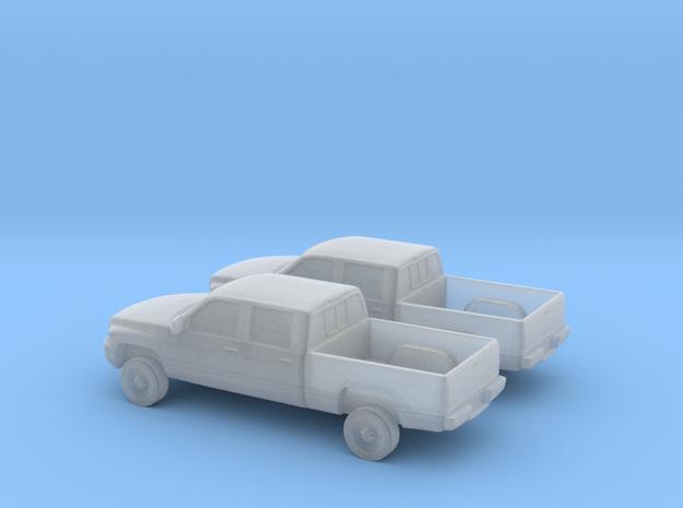 1/160 2X 1994-01 Dodge Ram Crew Cab in Smooth Fine Detail Plastic