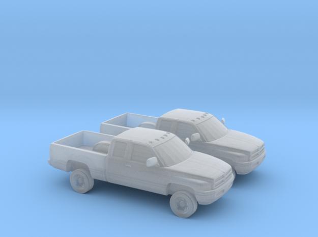 1/160 1994-01 2X Dodge Ram Extendet Cab in Smoothest Fine Detail Plastic