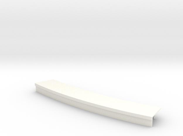 Curved platform 15cm in White Processed Versatile Plastic