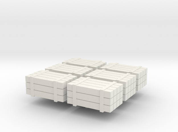 HO scale timber bundles - cargo in White Natural Versatile Plastic