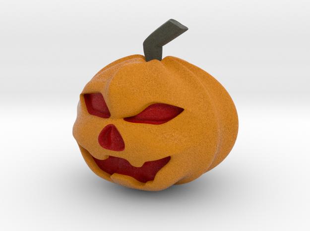 Halloween Hollowed Figurine: Evil Pumpking in Full Color Sandstone