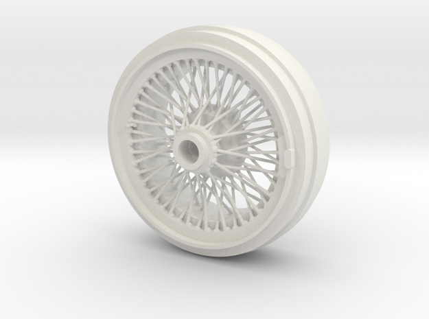 1/8 Wire Wheel Rear, with 72 spokes in White Natural Versatile Plastic