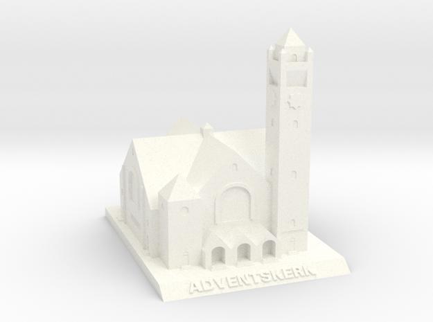 Adventskerk Model (6cm) in White Processed Versatile Plastic