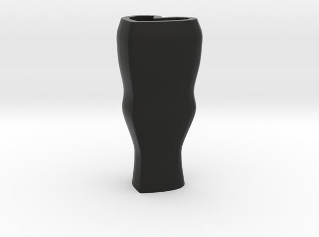 Heart flower vase - black in Black Natural Versatile Plastic