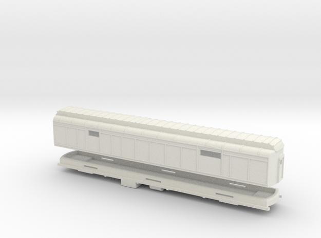 Z Scale Pullman Heavyweight Baggage Car 3d printed