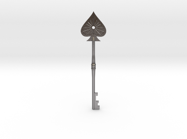 Resident Evil 2: Spade key in Polished Nickel Steel