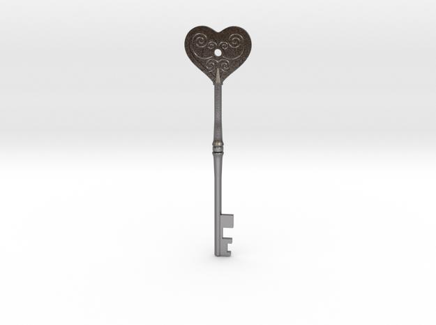 Resident Evil 2: Heart key in Polished Nickel Steel