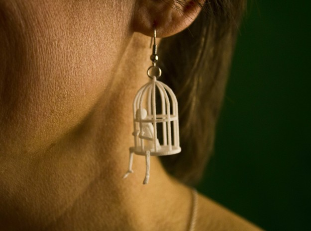 Gibbet Pendant/Earring in White Strong & Flexible