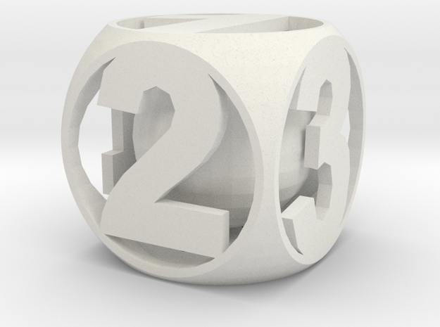 Crazy Dice in White Natural Versatile Plastic