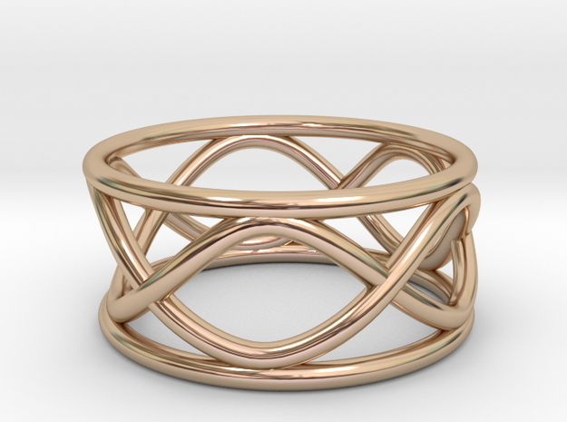 Infinity Ring- Size 8  (25% Taller)  in 14k Rose Gold