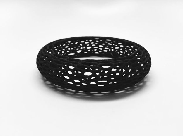 Lattice Bangle in Black Strong & Flexible