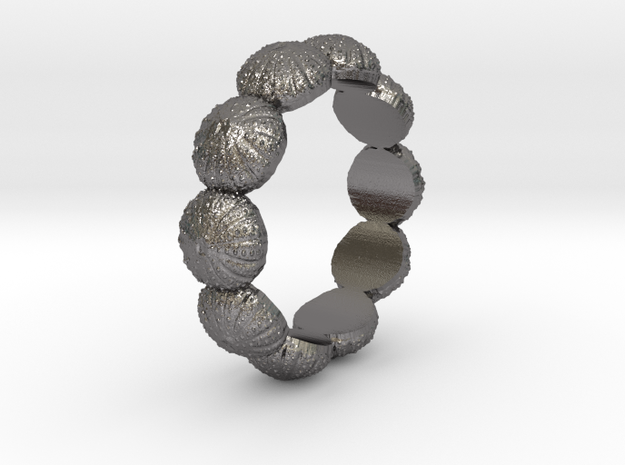 Urchin Ring 1 - US-Size 7 (17.35 mm) in Polished Nickel Steel
