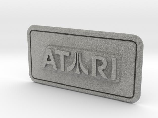 Atari Coin Door Tag (Over/Under) in Metallic Plastic