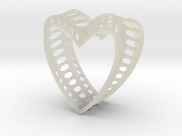 Bony Heart in Transparent Acrylic
