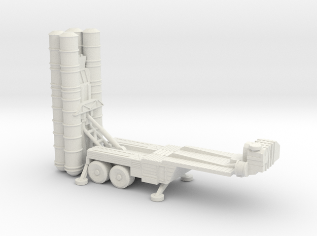 S-400 missiles 6mm Low Resolution in White Natural Versatile Plastic