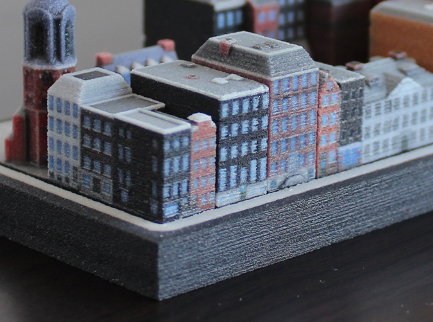 Amsterdam Canal houses 1x2 (set of 4)