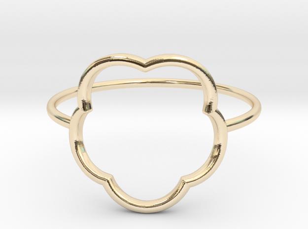 Inner flower ring - size 6 US in 14K Yellow Gold