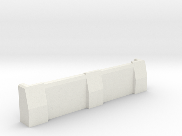"5"" Ballistic Barrier in White Strong & Flexible"