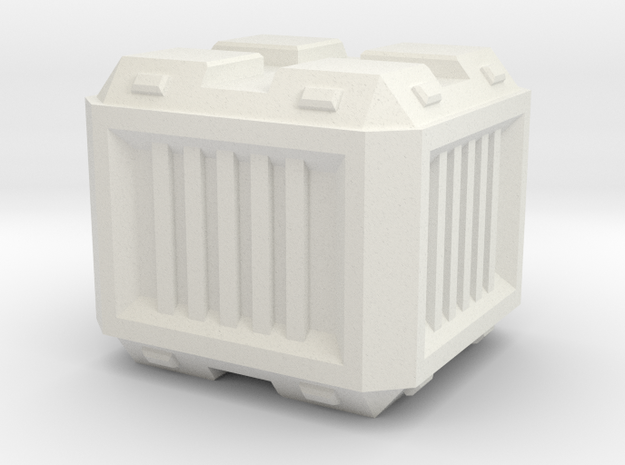 Modern/Sci-fi Small Crate in White Strong & Flexible