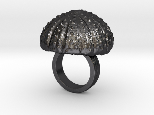 Urchin Statement Ring - US-Size 2 1/2 (13.61 mm) in Polished and Bronzed Black Steel
