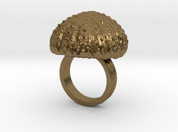 Urchin Statement Ring - US-Size 5 1/2 (16.10 mm) in Natural Bronze