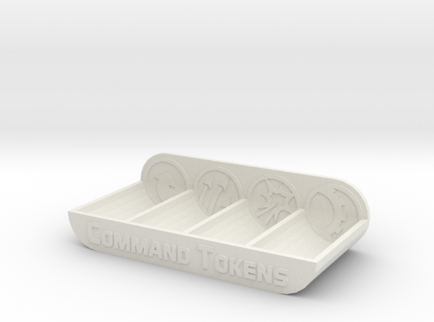 Armada Command Token Tray in White Natural Versatile Plastic