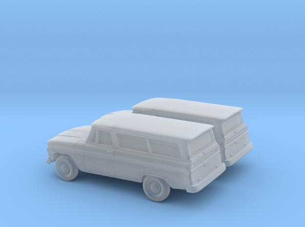1/160 2X 1966 Chevrolet Suburban in Smooth Fine Detail Plastic