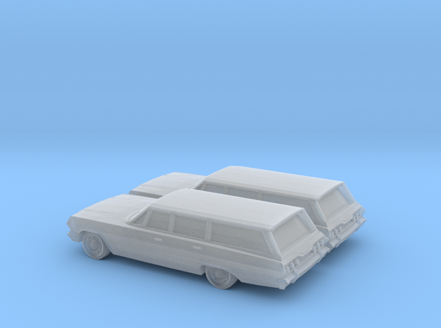 1/160  2X 1963 Chevrolet Impala  Station Wagon in Smooth Fine Detail Plastic