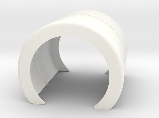 Single Fender style 1 in White Processed Versatile Plastic