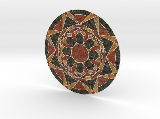 Sandstone Medallion in Full Color Sandstone