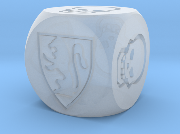 HeroQuest Die (13mm) in Frosted Extreme Detail