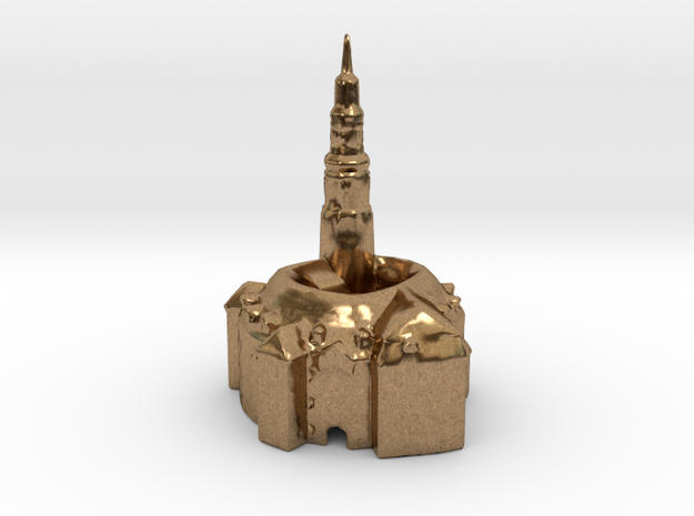 Castle Owiesno / Habendorf 24mm high in Natural Brass