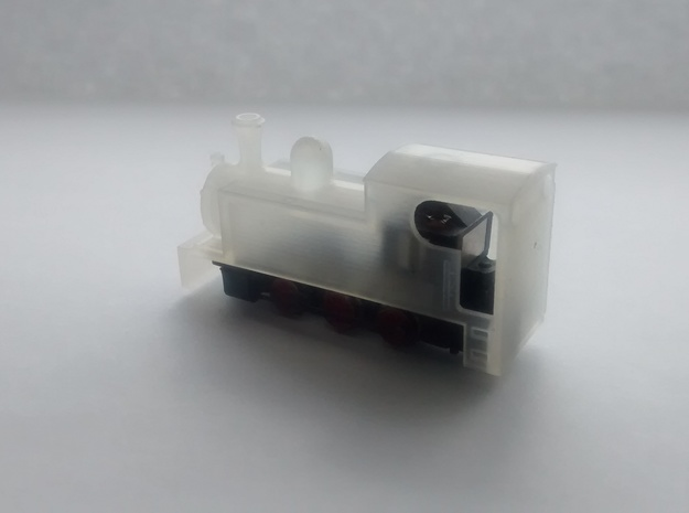 N-scale Narrow Gauge Steam Shell in Smoothest Fine Detail Plastic