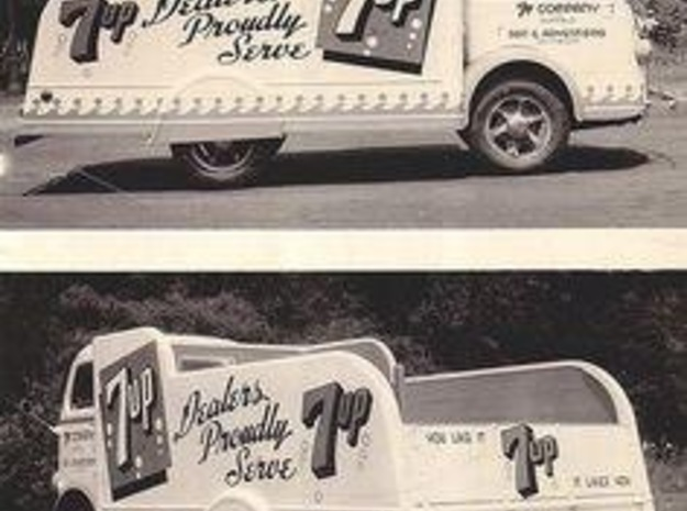 7-Up Truck w/1949 Chevy Cab Over in Frosted Ultra Detail