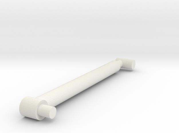 Retracted RAM in White Natural Versatile Plastic