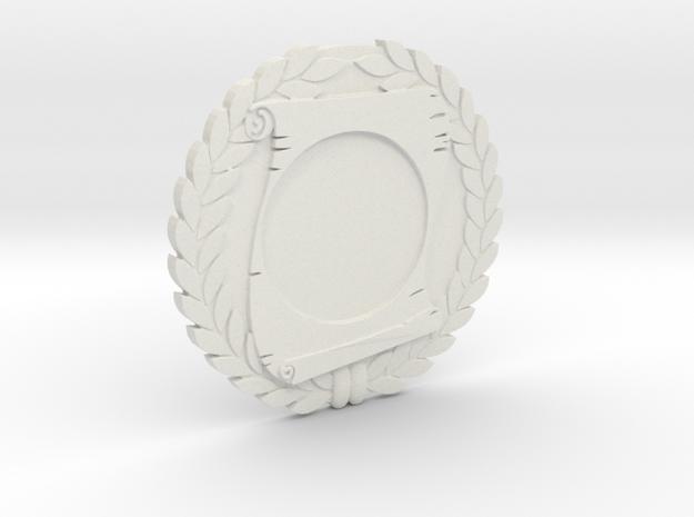 """Immortan Joe """"Scroll"""" Badge / Medal in White Natural Versatile Plastic"""