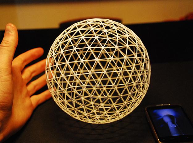 Geodesic Sphere (15cm) 3d printed