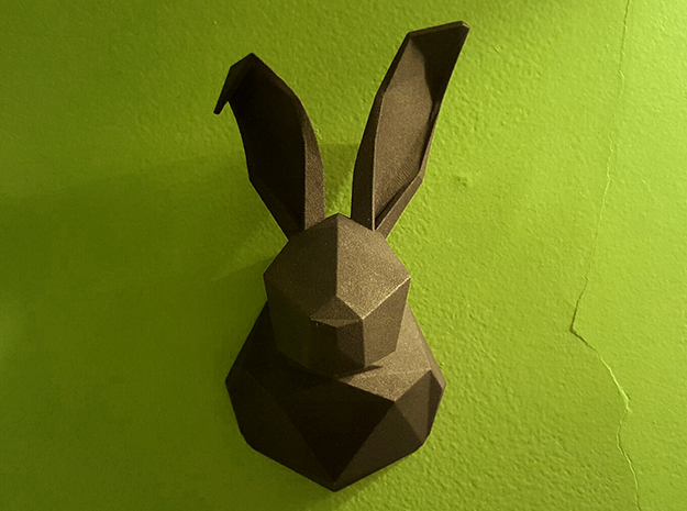 Rabbit in Black Natural Versatile Plastic