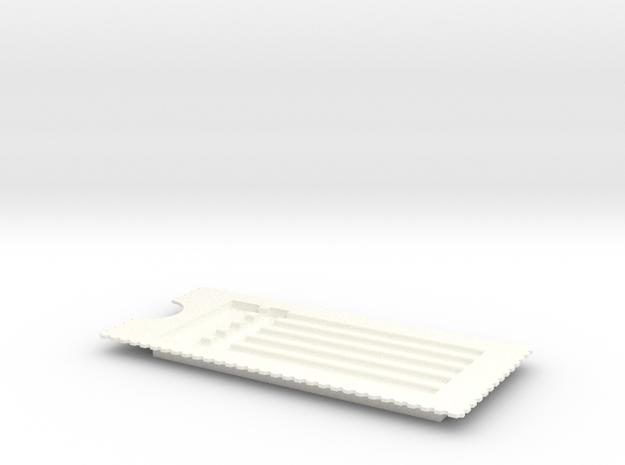 PillBoxe6 Guts in White Processed Versatile Plastic