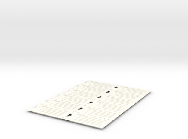 PillBoxe6 Sheet in White Strong & Flexible Polished