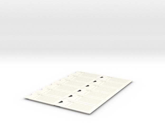 PillBoxe6 Sheet in White Processed Versatile Plastic