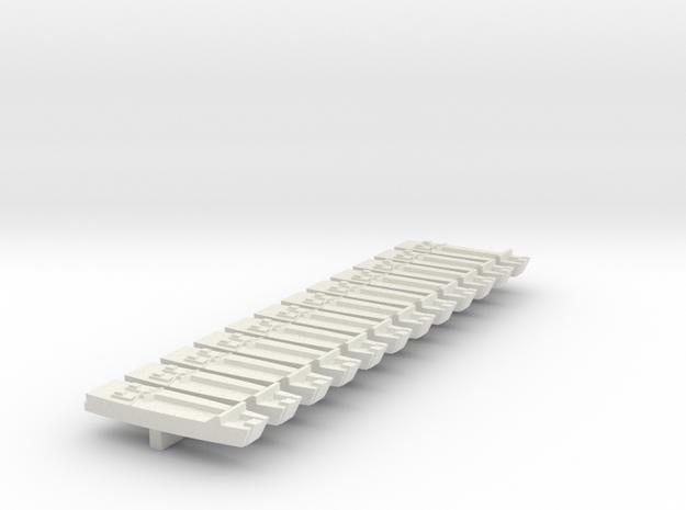 1/600 LCA on Sprue in White Natural Versatile Plastic