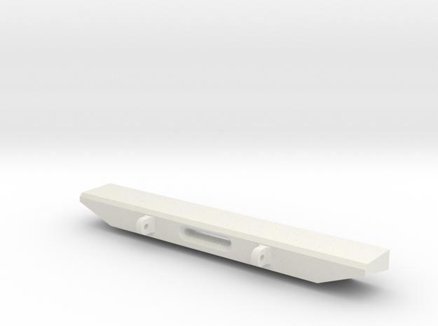 SCX-10 Rear bumper with winch fairlead in White Natural Versatile Plastic