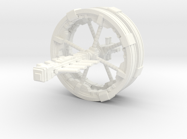 Futuristic space station concept (Large) in White Processed Versatile Plastic